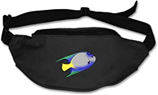 AyxjlSv Slim Profile & Lightweight Waist Pack Water Resistant Grumpy Fish Cartoon Storage Smartphone & More Travel, Runners, Hikers, Men & Women