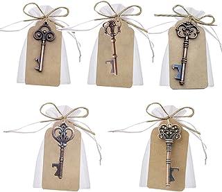 comprar comparacion Llave abrebotellas para decoración de bolsas de recuerdos de boda de Awtlife, 50 piezas, estilo vintage, 5 estilos