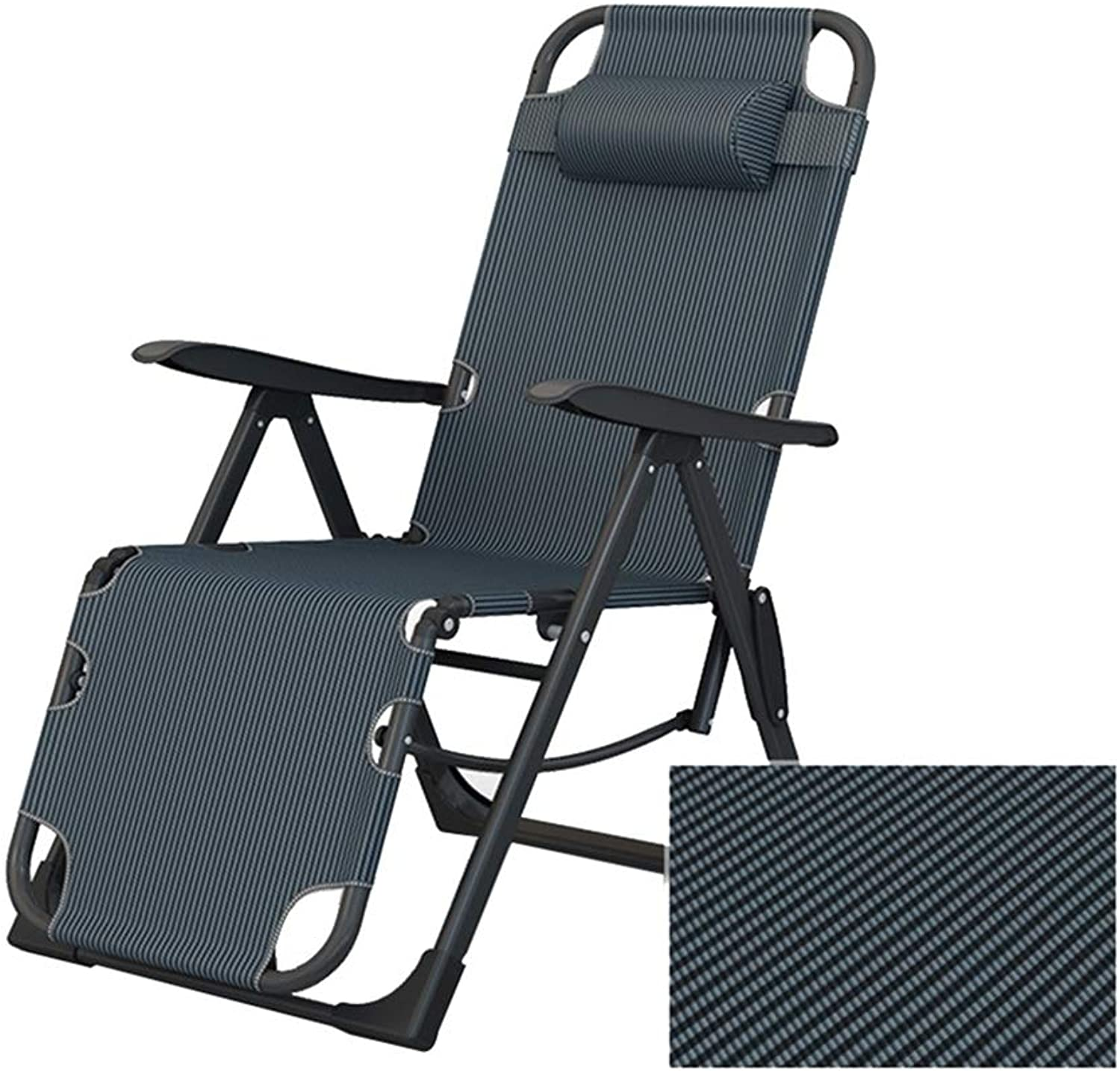 MEIDUO Rocking Chairs Portable Garden Sun Lounger, Folding Sun Bed Relaxing Reclining Chair, Summer Balcony Lounge Chair Single Relaxer Chair Office Nap Chair (color   1002)