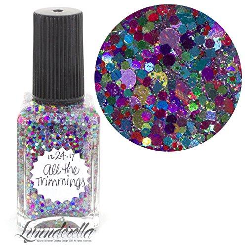 Lynnderella 2017 Christmas Advent Multi Glitter Topper Nail Polish—December 24-All the Trimmings
