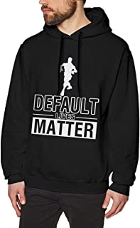 JTSHAAET Default Lives Matter Men's Funny Pullover Hoodie Sweatshirt
