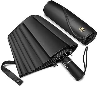 Umbrella Windproof with12 Fiberglass Ribs-Travel Compact Umbrella with Auto Open/Close for Men&Women Ruxy Humy