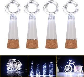 KOBWA 59zoll Flaschen-Licht Weinflasche Lichter mit Kork kor
