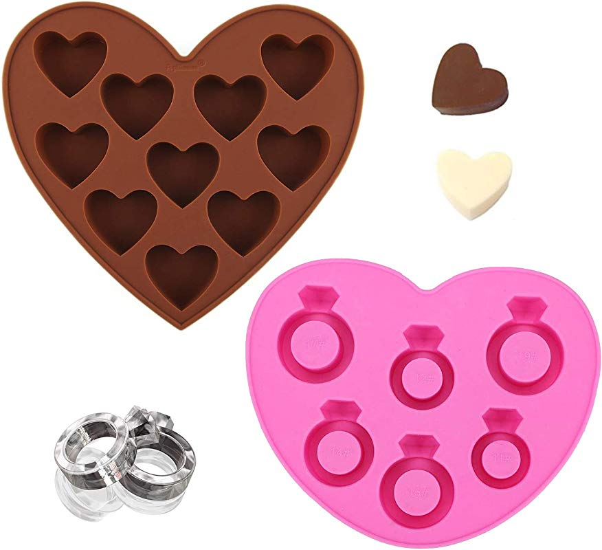 Ring Jewelry And Love Heart Engagement Wedding Shapes For Chocolate And Ice Tray