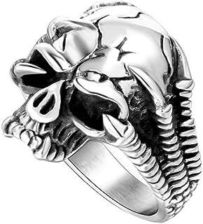 Anello Uomo Titanio Banda Di Teschi Di Drago Artiglio Creativo Tutti i Giorni, WLG, acciaio, taglia 12