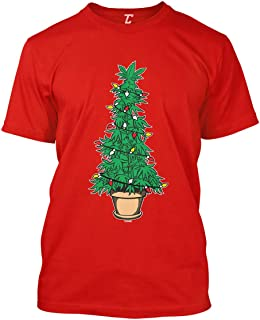 Marijuana Christmas Tree - Xmas 420 Stoner Men's T-Shirt