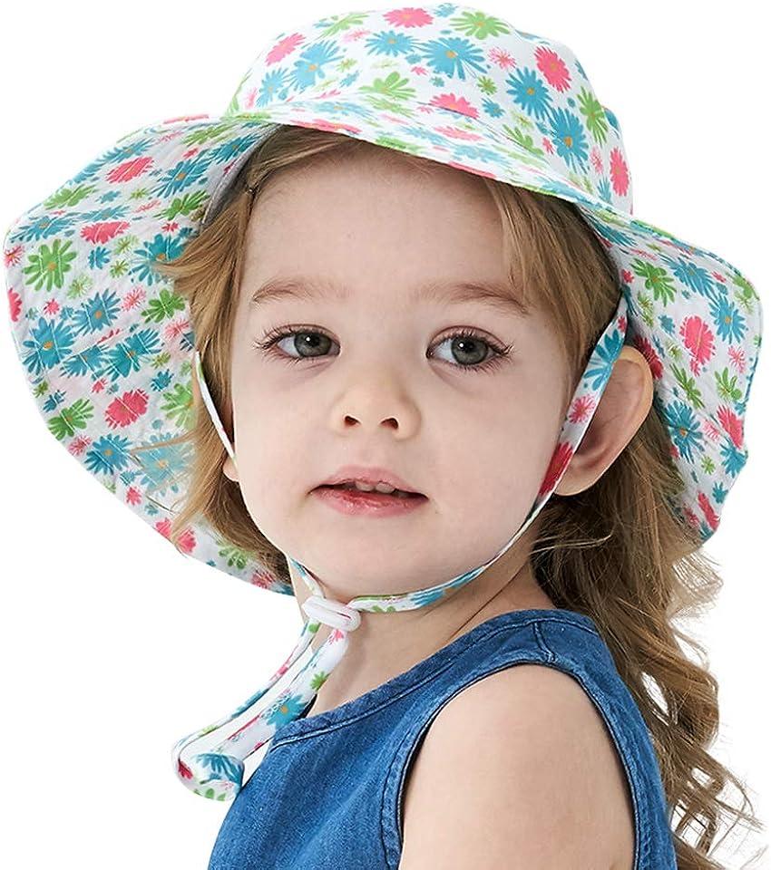 Baby Baumwolle Sonnenhut Jungen Mädchen Bucket Hut Sonnenschutz Fischerhut Mütze- Tauchen Pattern