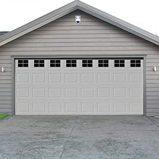 Decorative Magnetic Garage Door Window Panels Vinyl Thick Faux Tinted Glass Decals, Pre Cut 32 Sheets for 2 Car Garage