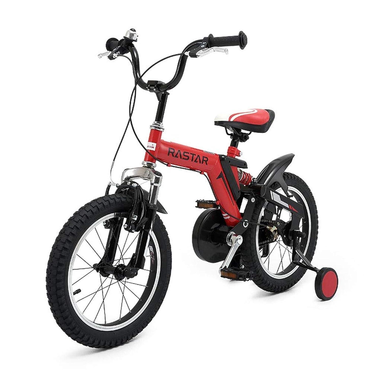 子供用自転車 2?6歳子供用自転車 12インチ男女自転車屋外用マウンテンバイク市オフロード車 (Color : Red, Size : 12 inches)