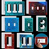 7 Pieces Light Switch Cover Resin Molds Switch Socket Panel Silicone Mould Epoxy Switch Plate Mold for DIY Wall Plate Crafts Making Home Decor, 7 Styles