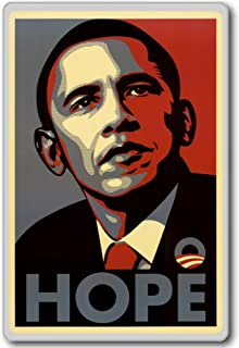 Barack Obama Hope Campaign - motivational inspirational quotes fridge magnet - 蜀キ阡オ蠎ォ逕ィ繝槭げ繝阪ャ繝