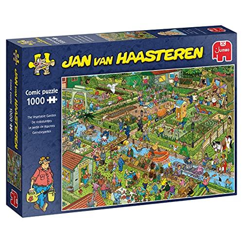 Jumbo Puzzles 19057 Gemüsegarten-1000 Puzzle Jan Van Haasteren-Der Gemüsegarten, 1000 Teile, Mehrfarben