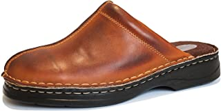 KS® 30 Men Leather Clogs Brown