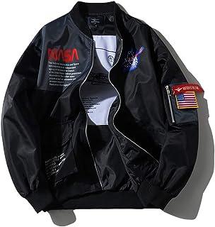 HBHHB NASA Bomber Ma-1 Unisex Pilot Giacca Spessa Logo Ricamo Classiche Uniforme da Baseball con Tasca Modelli di Coppia