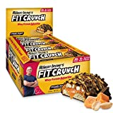 FITCRUNCH Protein Bars, Designed by Robert Irvine, Protein Bar, Gluten Free, Award Winning Taste, Whey Protein Isolate, Low Sugar (12 Bars, Caramel Peanut)