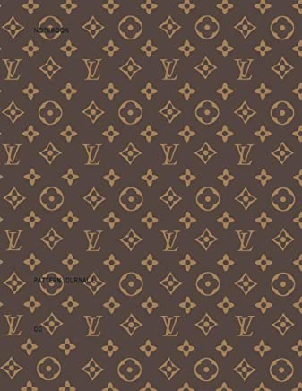 Medium Lined Journal Composition Notebook to write in LV: Epi Navy pattern Notebook College classic Ruled Pages Book 5.5 x 8.5