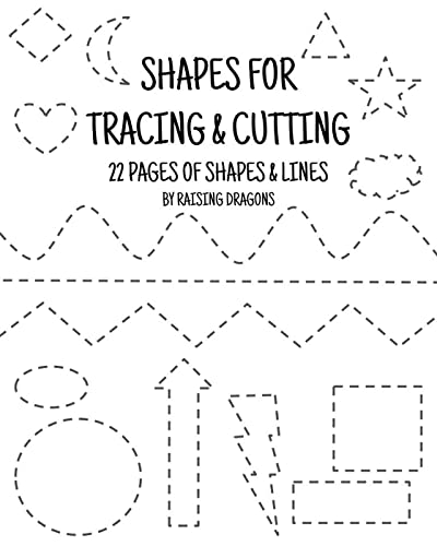 7 Shapes Tracing And Cutting Activity Printable - Scissor Skills Practice  Sheets For Kindergarten And Preschool Ages