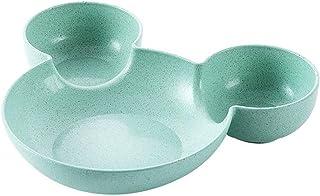 Dinner plate طالب عشاء لوحة جميلة عشاء لوحة لوحة الإفطار لوحة العشاء هي مناسبة للطالب مطبخ المنزل الأخضر plate (Color : A)