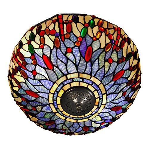 World Art TW60538 Lampes Style Tiffany, Multicolore, 27x41x41 Cm