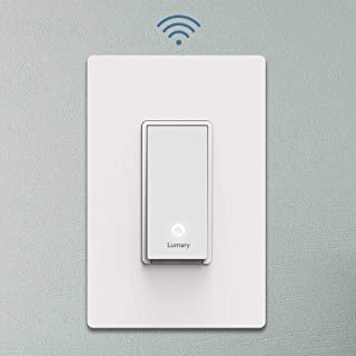 Lumary Smart Wi-Fi Electrical In-Wall Decor Light Switch for LED, CFL, Halogen, and Incandescent Bulbs, with Timer and Wireless Control, Integrate with Alexa, Google Assistant (No Hub Required)