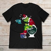 New England Patriot Grinch Santa Toilet Miami Dolphins New York Jets Christmas.