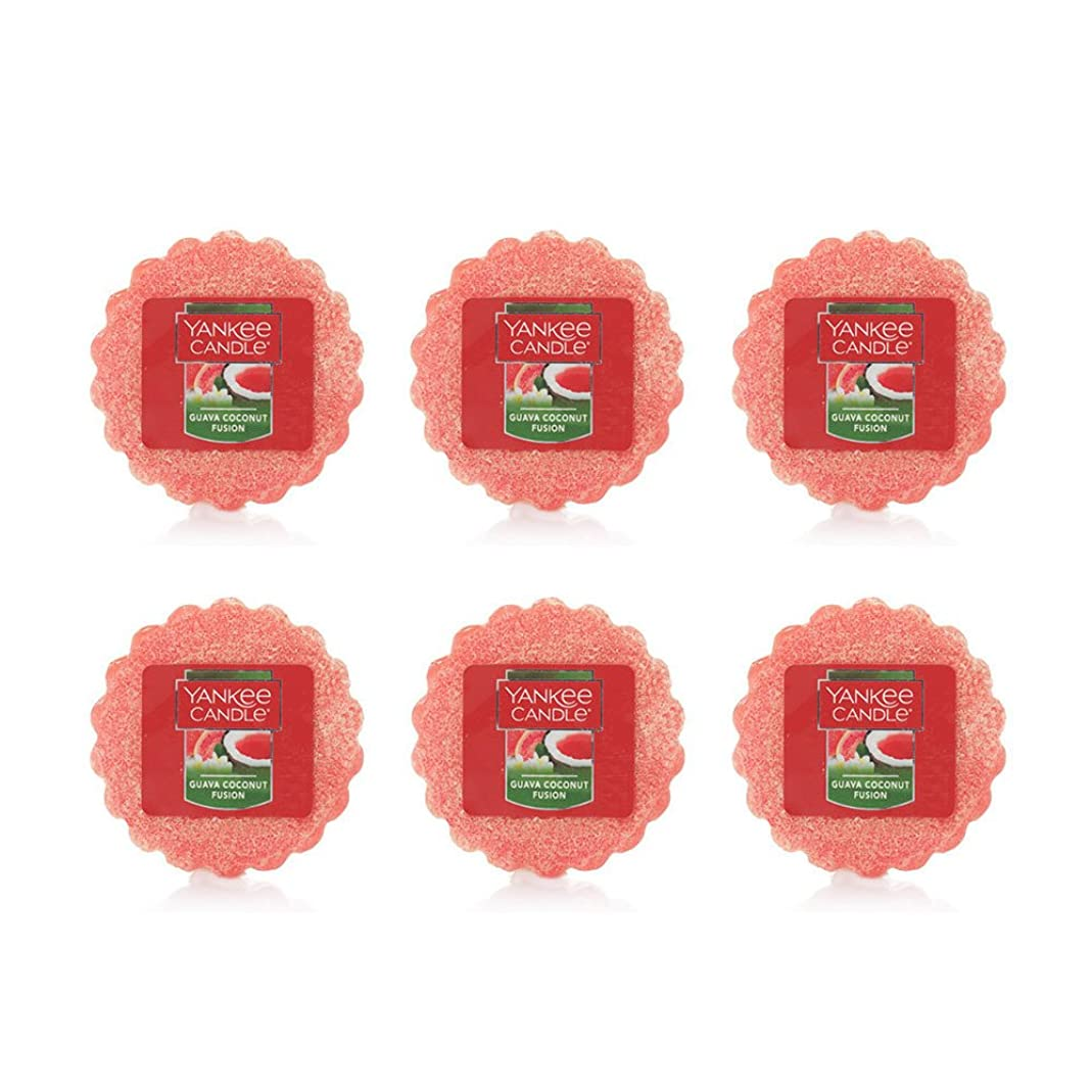 パパ誘導挨拶するYankee Candle Lot of 6?Guava Coconut Fusion TartsワックスMelts