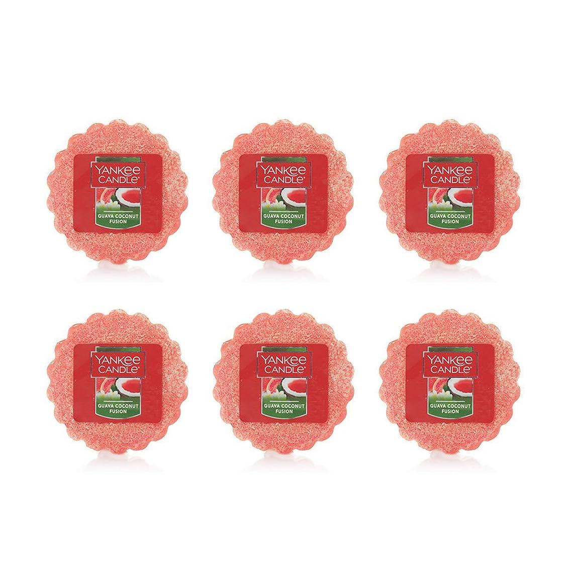 石炭人形ループYankee Candle Lot of 6?Guava Coconut Fusion TartsワックスMelts