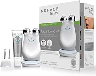 NuFACE Trinity Facial Trainer Set + Eye and Lip Enhancer Attachment | Wrinkle Reducer | FDA Cleared At Home System