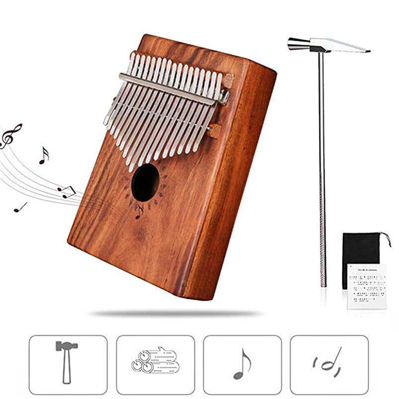 NszzJixo9, 17 keys Portable Thumb Piano Mahogany Body Ore Metal Tines,for international standard C tune (C) zfaaeppj427736
