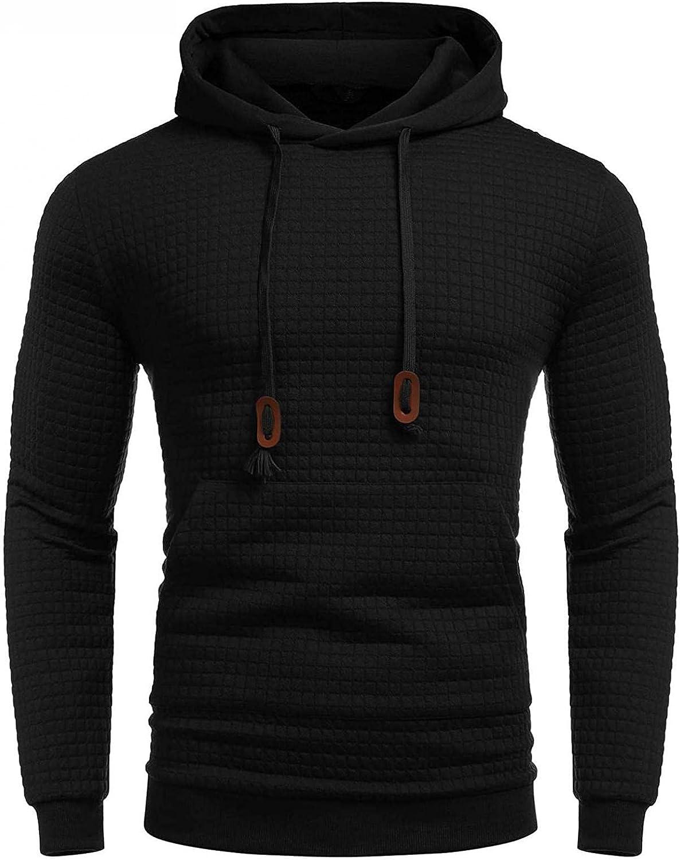 Aayomet Hoodies for Men Plaid Workout Athletic Bodybuilding Muscle Comfy Hoodies Long Sleeves Hooded Sweatshirts