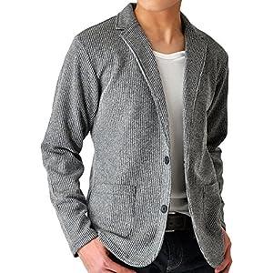(アローナ)ARONA テーラードジャケット メンズ ジャケット シャドーストライプ/YC A21グレーショート丈 LL