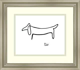 Framed Wall Art Print Le Chien (The Dog) by Pablo Picasso 15.50 x 13.50
