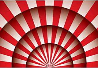 Leowefowa 10x8ft Vinyl Photography Backdrop Circus Themed Red Stripes Circus Tent Big Top Background for Photography Portrait Photo Props Party Decor Video Studio Photo Booth Backdrop