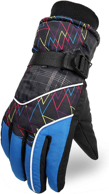 DSADDSD Herren Warme Handschuhe, Winter Verdickt Touchscreen Handschuhe, Outdoor Ski Reiten Winddichte Wasserdichte Baumwollhandschuhe