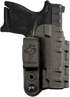 """DeSantis Gunhide Slim-Tuk Inside The Pants Holster, Fits 1911 with 4.25""""-5"""" Barrel with or Without Rail, Ambidextrous, Black Kydex"""