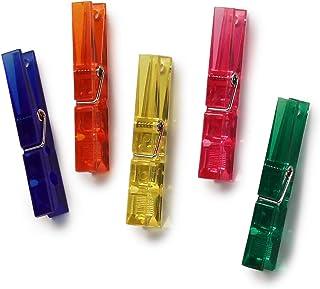 Set of 5 Clothespin Magnets Orange Stripes