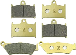SYUU Motorcycle Replacement Front Rear Brake Pads Brakes for Triumph Rocket III Classic Roadster Touring Thunderbird Commander Storm NightStorm 1699cc FA236F FA209R