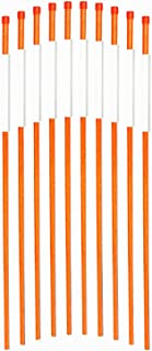 FiberMarker Driveway Markers for Snow Plowing Stakes 36 Inch Orange with Reflective Tape Driveway Reflectors 1/4-Inch Dia 20 Pack Solid Snow Poles