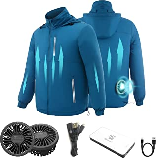 PROSmart 空調服 空調風神服 ファン バッテリー セット 作業着空調服 熱中症対策 長袖 男女兼用 2020年新型空調服