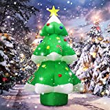 Fanshunlite Christmas Inflatable 9FT LED Color Changing Christmas Tree Lighted Blow-Up Yard Party Decoration Xmas Inflatable Outdoor Indoor Home Garden Family Prop Yard