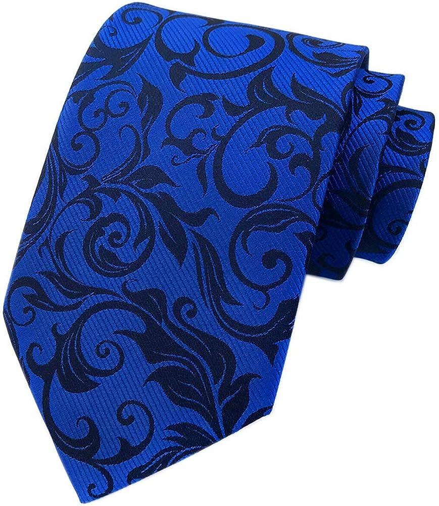 Secdtie Men's Novelty Floral Microfiber Ties Woven Business Formal Necktie 3.15
