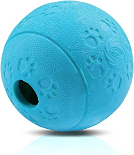 """AriTan Interactive Food Dispensing Dog Rubber Toy Ball,Large 3.2"""", 100% Non-Toxic Chew Toys for Pet Tooth Cleaning, Chewin..."""