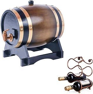 ZGQJT Tonneau Vieillissant en Chêne 3L, Distributeur de Whisky Fait à la Main avec Support for Le Vin, Adapté au Stockage ...