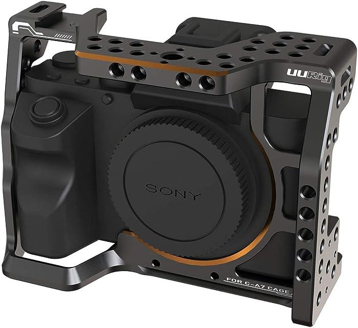UURig C-A7III - Jaula de Metal para Sony A7 III A7M III A7R III estabilizador de vídeo extensión de Zapata fría y Orificio de localización Arri