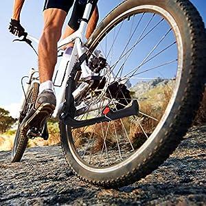 Gifort Pata de Cabra para Bicicleta, Caballete Lateral de Altura Ajustable Soporte de Bicicleta con Pie de Goma Antideslizante para Bicicletas de Montaña con Ruedas de 24-29 Pulgadas