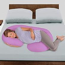 Novo 2.25Kg Pp Cotton Comfort Pregnancy & Maternity Pillow, Pink - 145X80X25cm