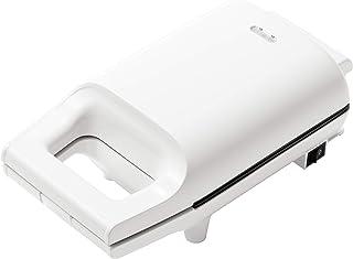 山善 具だくさん 耳付きで焼ける ホットサンドメーカー ホワイト YSB-S420(W)