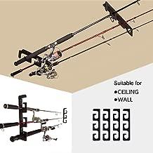 h/ält bis zu 8/Angeln sbmwr-008 Schwarz Finish Organisiert Angeln Modular senkrechte Wand Rack f/ür Angel Aufbewahrung