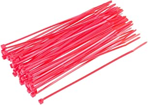 120pcs Zip Cable Ties 6 Inch x 0.1 Inch Self-Locking Nylon Tie Wraps Pink