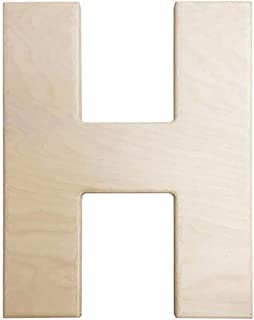 Darice U0993-H Bold Solid Wood Letter, Capital H, 12 in